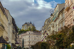Street in Karlovy Vary, Czech repablic Royalty Free Stock Images