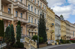 Street in Karlovy Vary, Czech repablic Stock Image