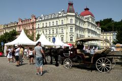 Street in Karlovy Vary 15 Stock Image