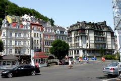 Street in Karlovy Vary - Carlsbad Stock Image