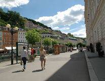 Street in Karlovy Vary Royalty Free Stock Photos