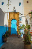 Street of Kasbah of the Udayas in Rabat, Morocco. Royalty Free Stock Photography