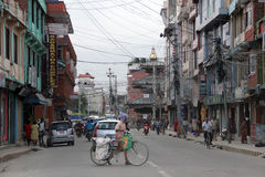 Street in Kathmandu, Nepal Royalty Free Stock Photo