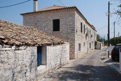 Street in Katomeri, Meganissi Stock Photos