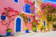 Street in Kefalonia, Greece Royalty Free Stock Image