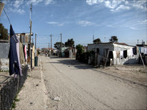 Street in Khayelitsha Stock Photo