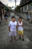 Street Kids. At Manila playing around Stock Photography
