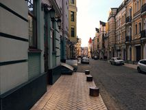 Street in Kiev Royalty Free Stock Images