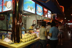 Street kiosk with coconuts Royalty Free Stock Photos