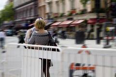 Street kissing. In London. Urban royalty free stock photo