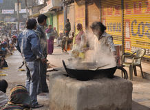 Street kitchen in India Stock Image