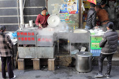 Street kitchen in Shanghai Stock Image