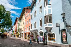 In The Street of Kitzbuhel Stock Images