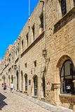 Street of the Knights in the Old Town. Rhodes Island. Greece Stock Photography