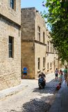 Street of the Knights in the Old Town. Rhodes Island. Greece Stock Images