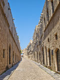 Street of Knights in Rhodes Stock Photography