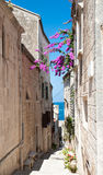 Street in  Korcula,  Croatia Royalty Free Stock Images