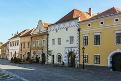 Street in Koszeg, Hungary Stock Photo