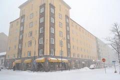 Street in Kotka at winter Royalty Free Stock Photos