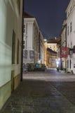 Street in Krakow by night royalty free stock photos