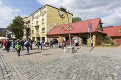Street Krupowki in city of Zakopane Stock Photos