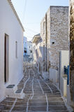 Street in Kythnos island, Cyclades, Greece Royalty Free Stock Images