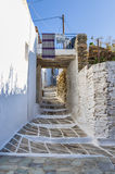 Street in Kythnos island, Cyclades, Greece Royalty Free Stock Image