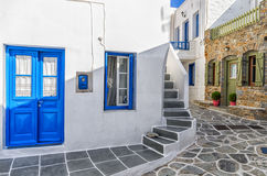 Street in Kythnos island, Cyclades, Greece Stock Photos