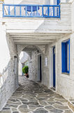Street in Kythnos island, Cyclades, Greece Royalty Free Stock Photography