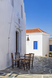 Street in Kythnos island, Cyclades, Greece Stock Photography