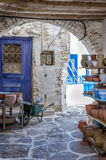 Street in Kythnos island, Cyclades, Greece Royalty Free Stock Photo