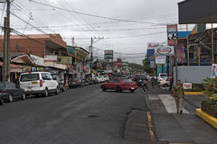 A street in la fortuna, costa rica Stock Images