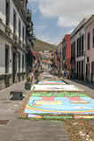Street of La laguna with flower carpets Stock Photography