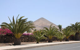 Street in La Oliva, Fuerteventura Royalty Free Stock Photography