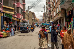 In The Street of La Paz Royalty Free Stock Photo