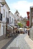 A street in Lagos, Algarve, Portugal Royalty Free Stock Image
