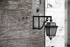 Street lamp. Lamp on the wall in Vatican stock photography