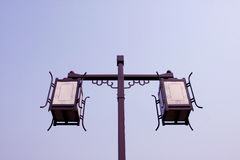 Street lamp. With big blue sky Royalty Free Stock Photos