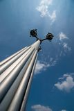 Street lamp. Tall street lamp Royalty Free Stock Image