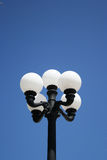 Street lamp. With five bulbs Stock Photo