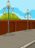 Street lamp. Illustration of landscape street lamp Stock Images