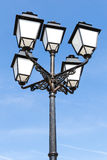 Street lamp. Decorative old street lamp pole Stock Photography