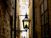 Street and a lamp. Stockholm. Sweden Royalty Free Stock Photography