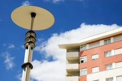 Street lamp. Modern street lamp in a modern ward Royalty Free Stock Photos
