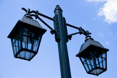 Street lamp. In front of sky Royalty Free Stock Photos