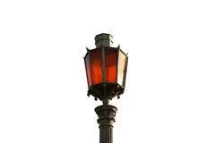Street lamp. On an isolated white background Stock Photo