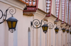 Street lamp. In the city Royalty Free Stock Photography