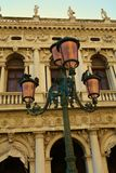 Street lamp and architecture in vintage colors, St. Mark's Square, Venice Royalty Free Stock Image