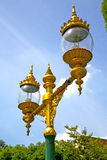Street lamp bangkok thailand  in the sky   palaces     abstract Stock Photo