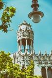 Street lamp in Barcelona, Spain royalty free stock photo